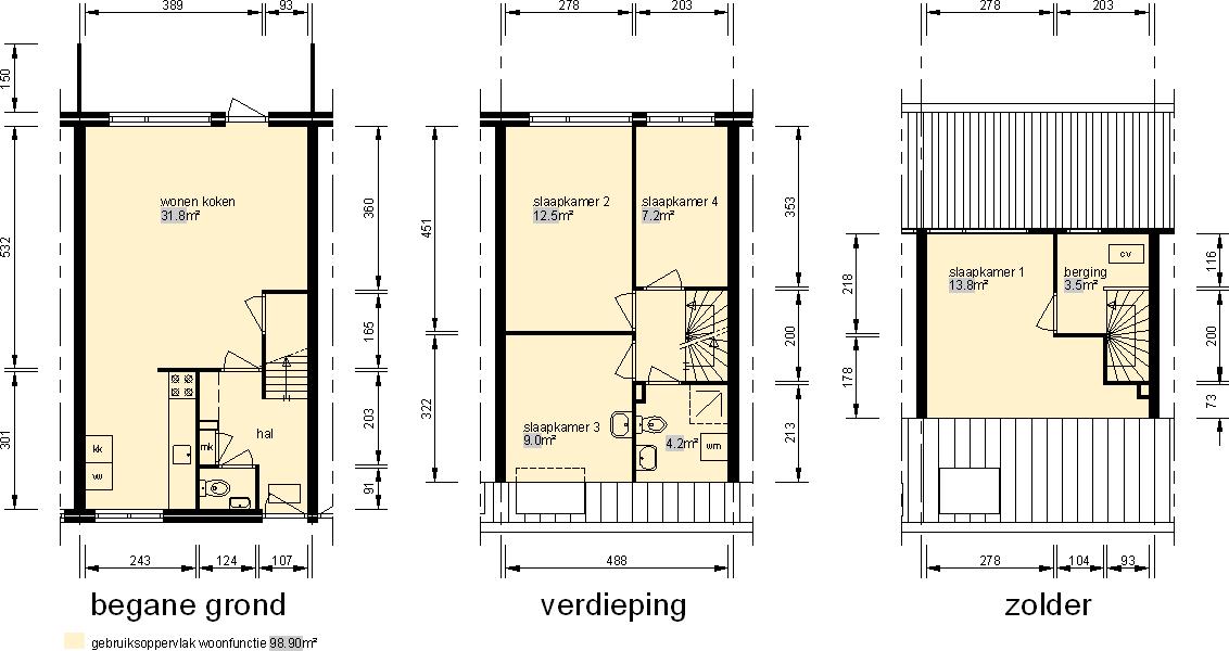 woningplattegrond / NEN2580
