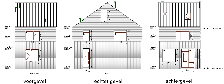 huisnummer overzicht / woningplattegrond / gevel / EPA